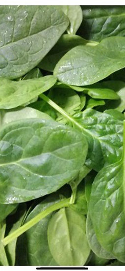 Baby spinach $5.00 bag