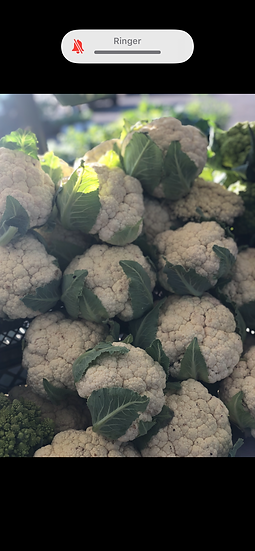 Cauliflower $4.00 each