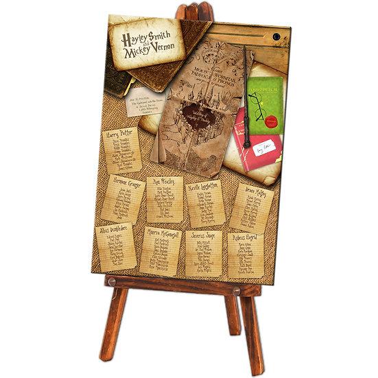 Harry Potter wedding table plan