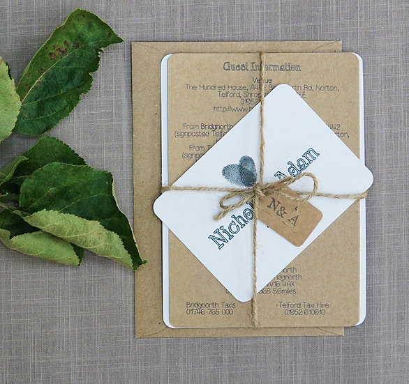 Rustic luxury wedding invitations