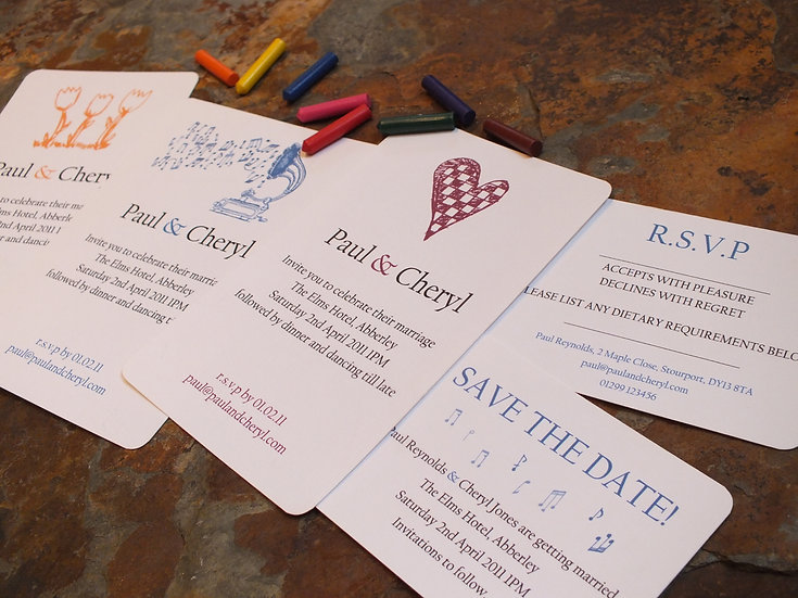 Doodle luxury wedding invitations