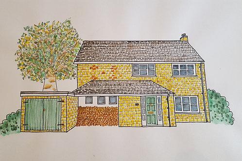House Portrait Size A3