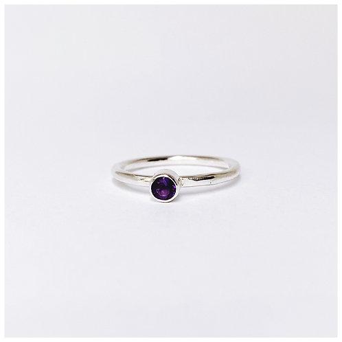 Dark Amethyst ring. February's birthstone.