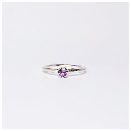 Amethyst ring. February birthstone
