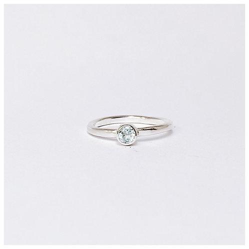 Aquamarine gemstone ring. March birthstone