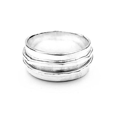 Silver Spinner ring - choice of textured spinning rings, US/Canadian sizes
