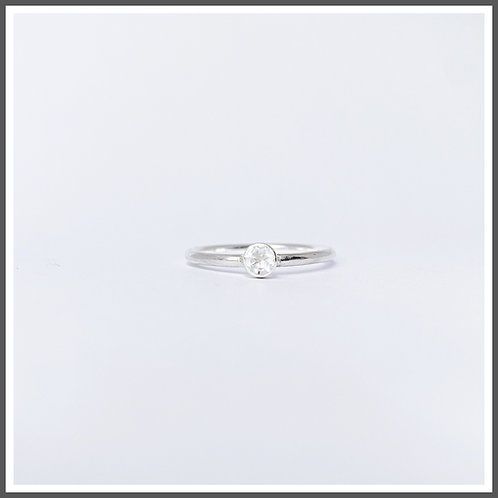 Rock crystal gemstone ring. Alternative April birthstone