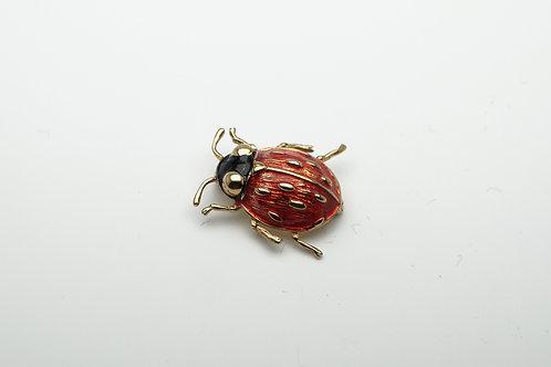 18 karat yellow gold enamel pin