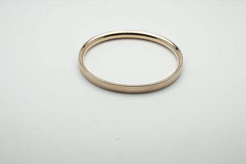 Gold overlay bangle bracelet