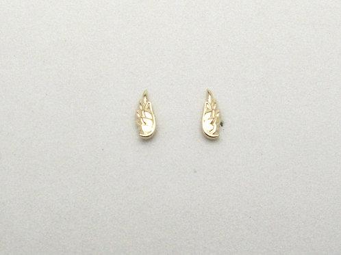 14 karat yellow gold angel wing stud earrings