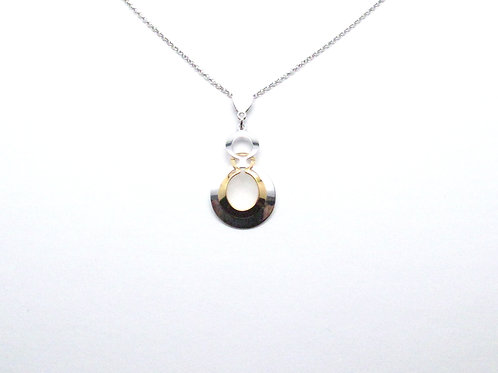 Sterling Silver and Yellow Gold Overlay Necklace