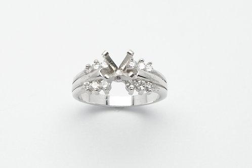 14 karat white gold semi mount diamond engagemnt ring