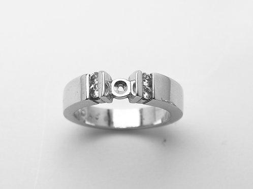 14 karat white gold semi mount diamond engagement ring