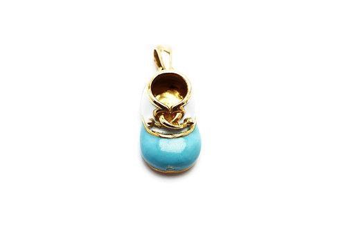 18 karat yellow gold enamel pendant