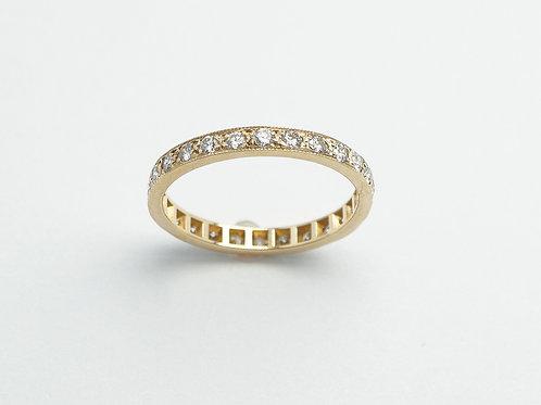 14 karat yellow gold diamond eternity band