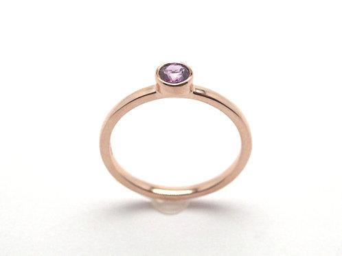 14 karat rose gold pink sapphire ring