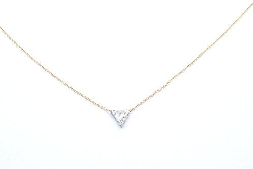 14 karat yellow and white gold diamond necklace