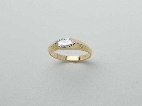 14 karat yellow gold and platinum diamond ring