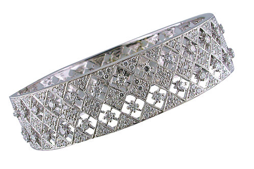 18 karat white gold diamond bracelet