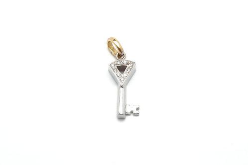 18 karat yellow gold and white gold diamond pendant