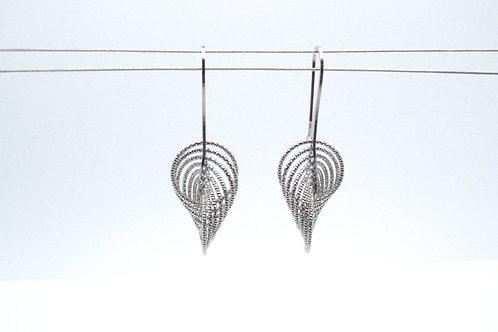 Sterling Silver Twist Earrings