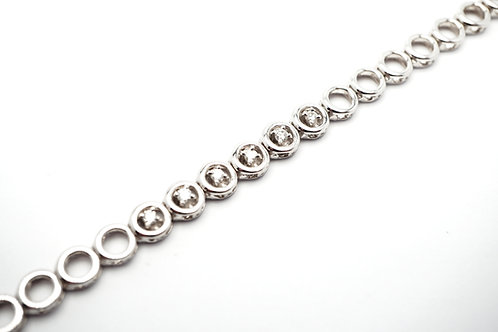 14 karat white gold diamond bracelets