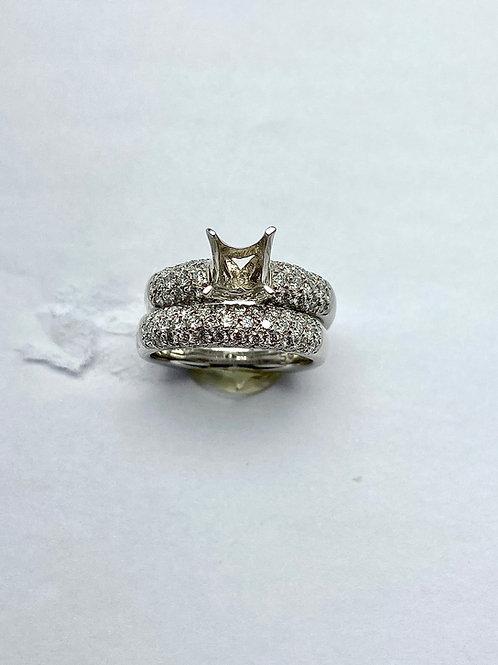 Platinum Diamond Semi-Mount Bridal Set