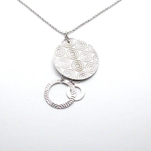 Sterling Silver Echo Medallion Necklace