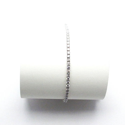 14KT White Gold Labratory Grown Diamond Bracelet
