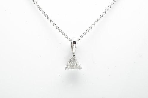 14 karat white gold diamond pendant