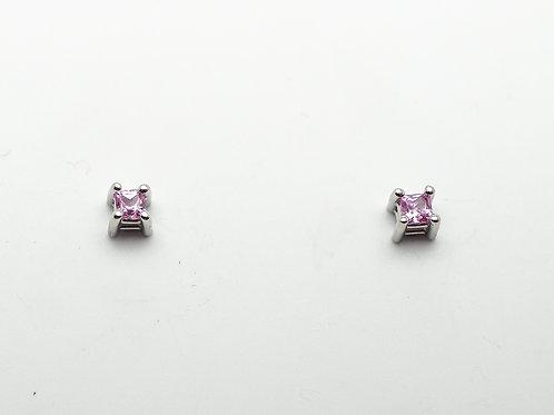 14 karat white gold pink sapphire earrings