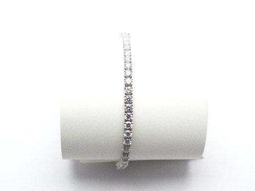 14kt White Gold Lab Grown Diamond Bracelet