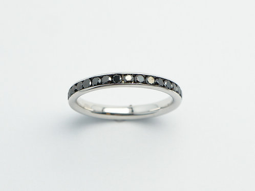 18 karat white gold black diamond eternity band