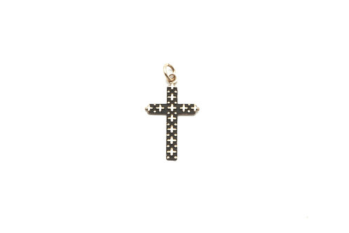14 karat yellow gold cross pendant