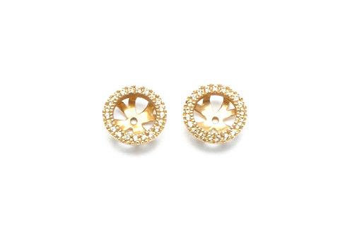 18 karat yellow gold yellow sapphire earring jackets