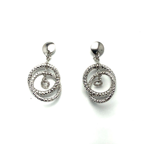 Sterling Silver Sparkle Connections Earrings