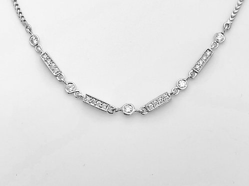 """18K White Gold 19""""Necklace"""