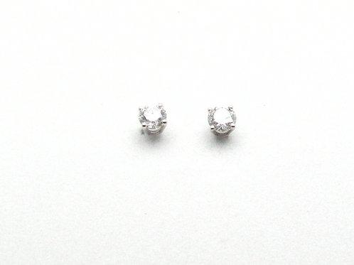 14KT White Gold Labratory Grown Diamond Earrings