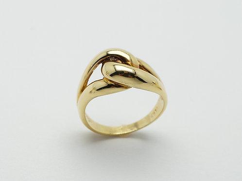 18 karat yellow gold domed ring