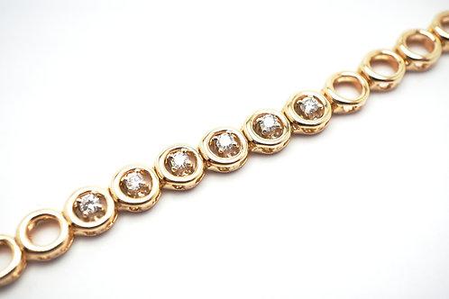 14 karat yellow gold diamond bracelet