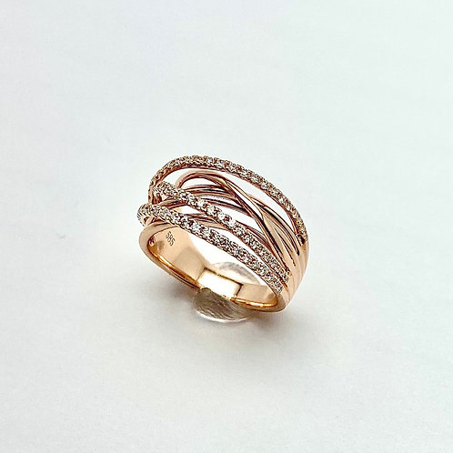 14 Rose Gold and Diamond Ring