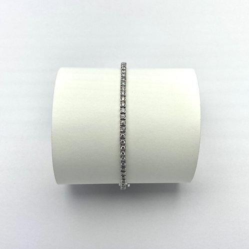 14 KT White Gold 2.00 Carat Lab Grown Diamond Bracelet