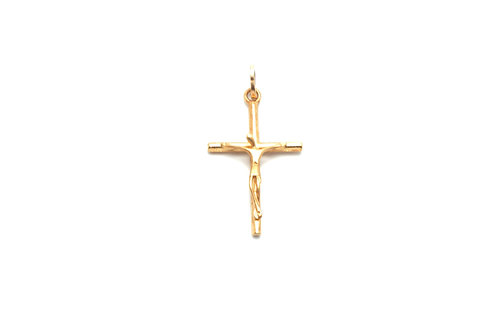 14 karat yellow gold crucifix pendant