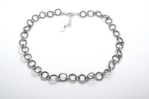 Sterling Silver and Ruthenium Necklace