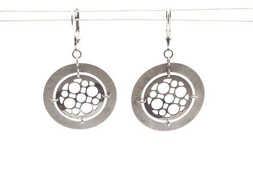 Silver bubble earrings