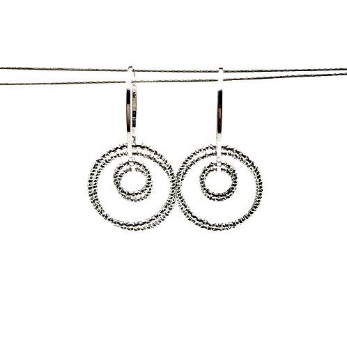 Sterling Silver Circle Game Earrings