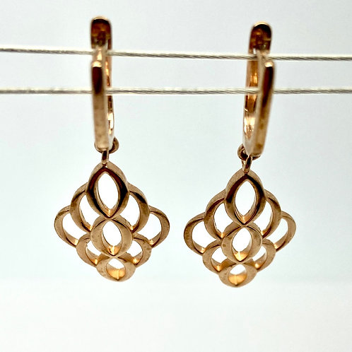 Silver and Rose Gold Overlay Earrings