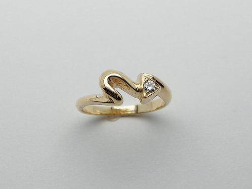 18 karat yellow gold diamond ring