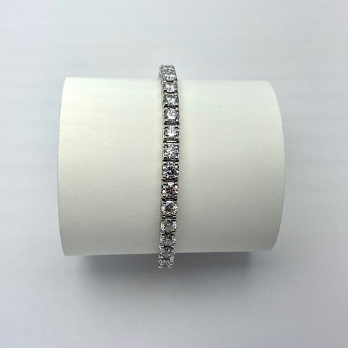 14KT White Gold 10.72 Carat Lab Grown Diamond Bracelet
