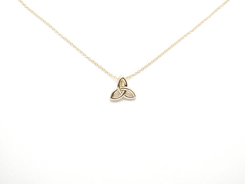 14 karat rose gold celtic trinity necklace